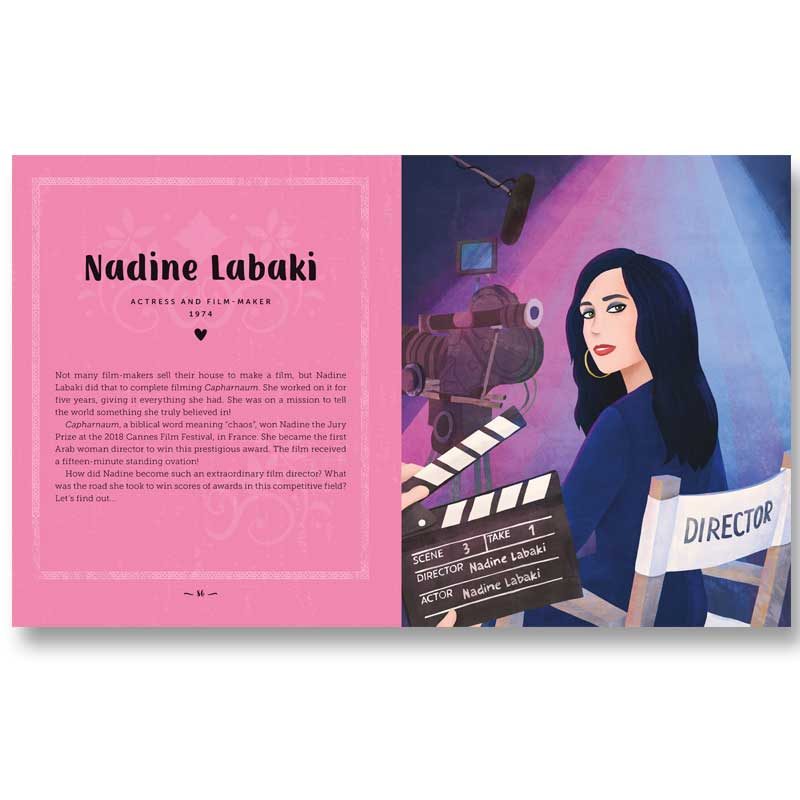 Sample spread from Amazing Women of the Middle East