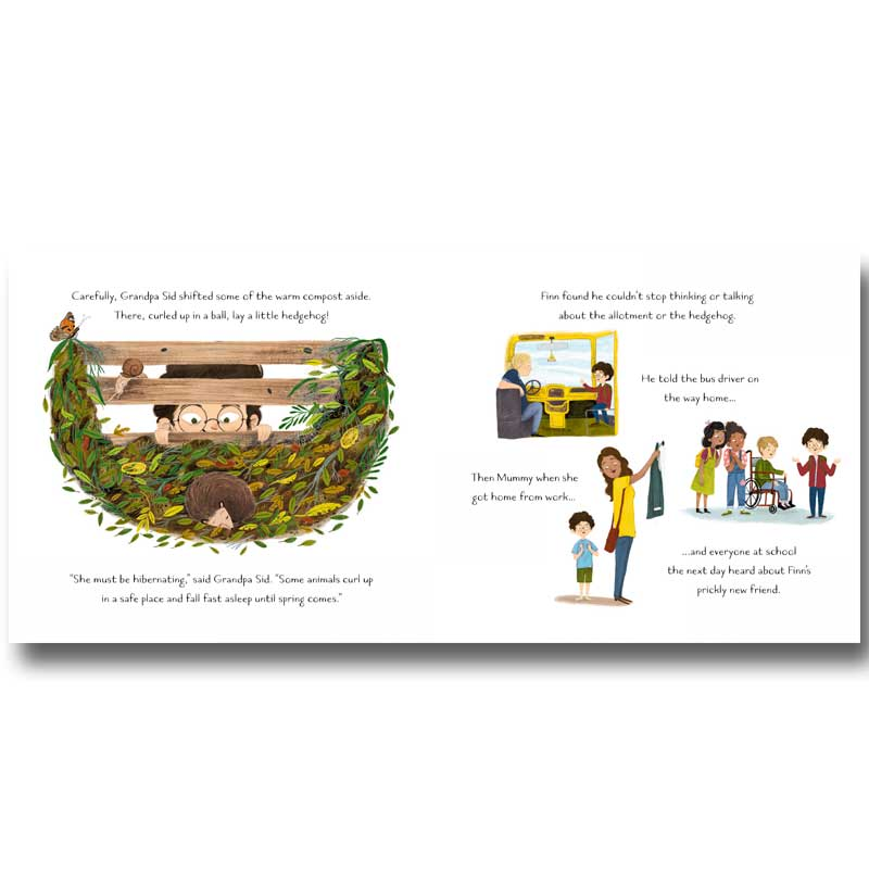 Sample spread from Finn's Garden Friends